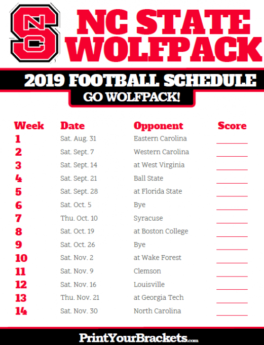 North Carolina State Wolfpack vs. Clemson Tigers at Carter Finley Stadium