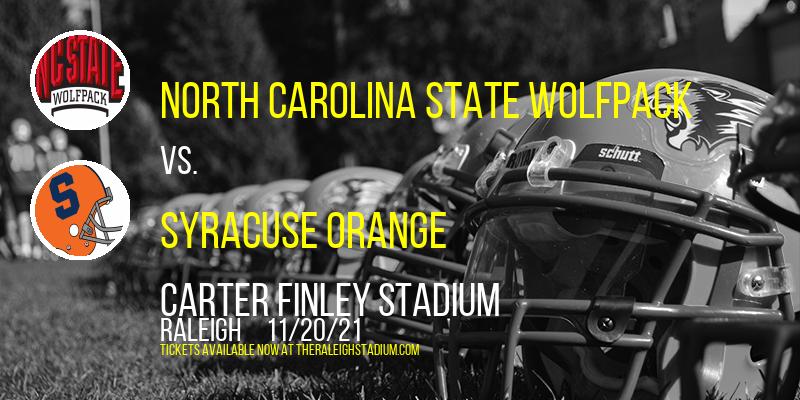 North Carolina State Wolfpack vs. Syracuse Orange at Carter Finley Stadium